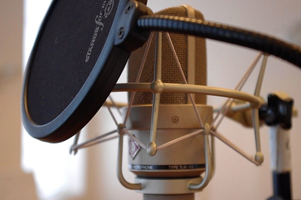 microphone and pop filter